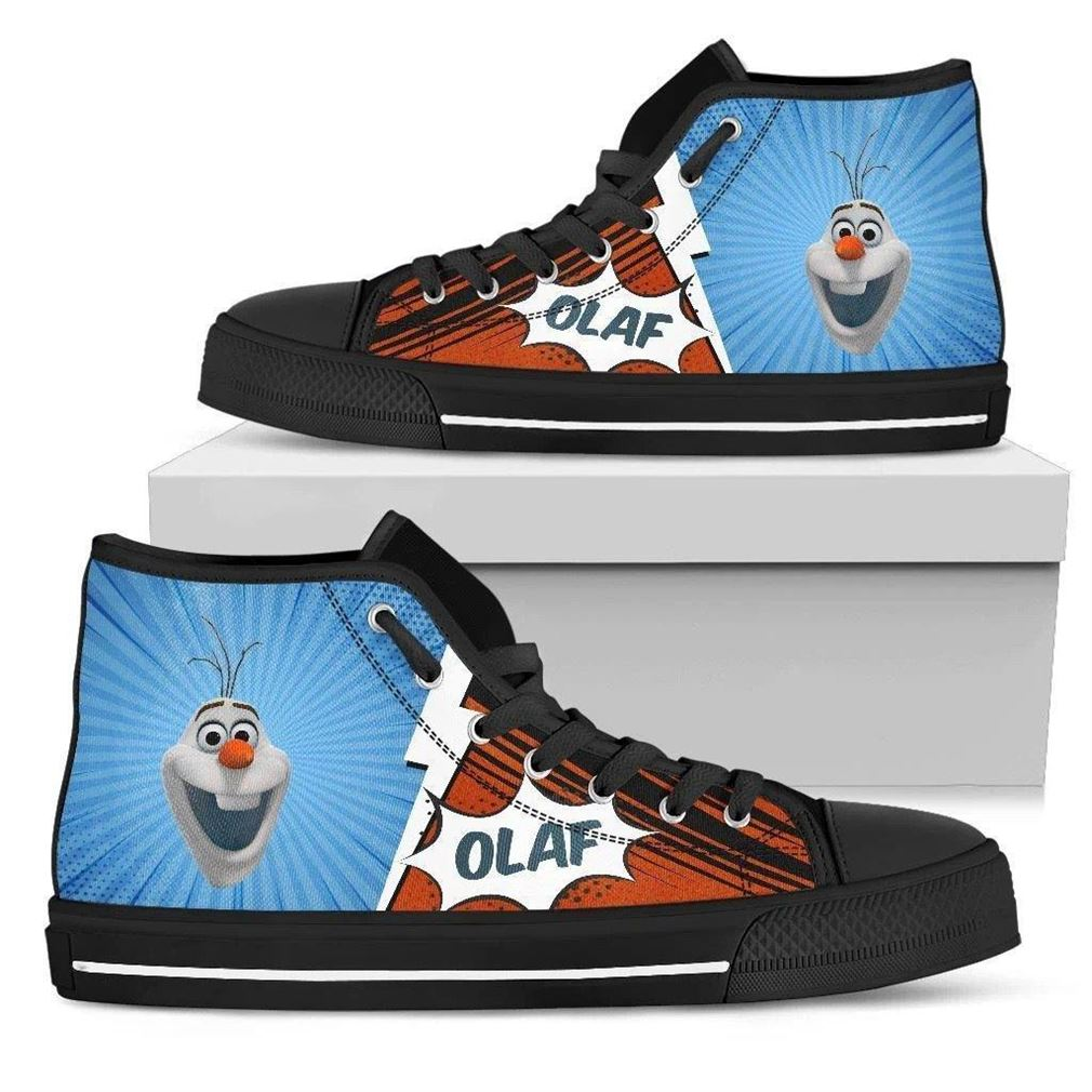 Olaf Character High Top Vans Shoes