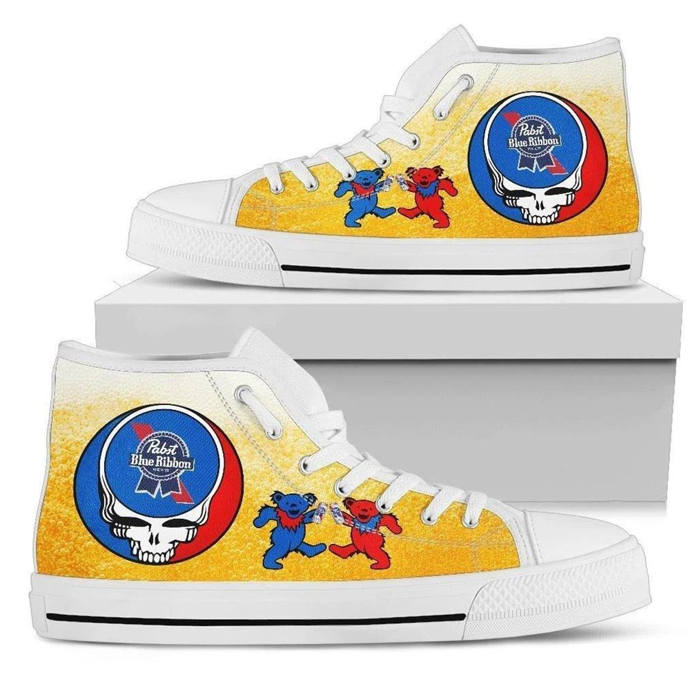Pabst Blue Ribbon High Top Vans Shoes