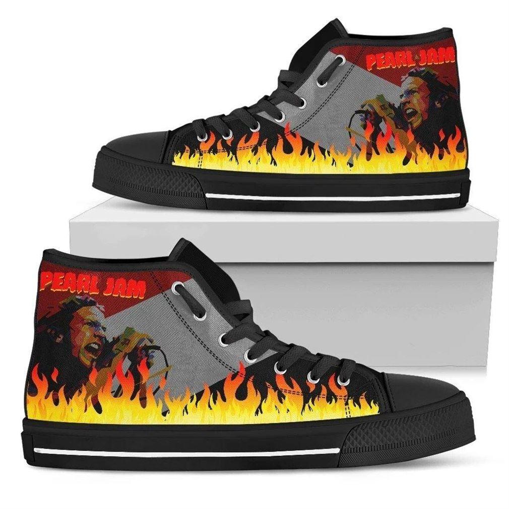 Pearl Jam Rock Band High Top Vans Shoes