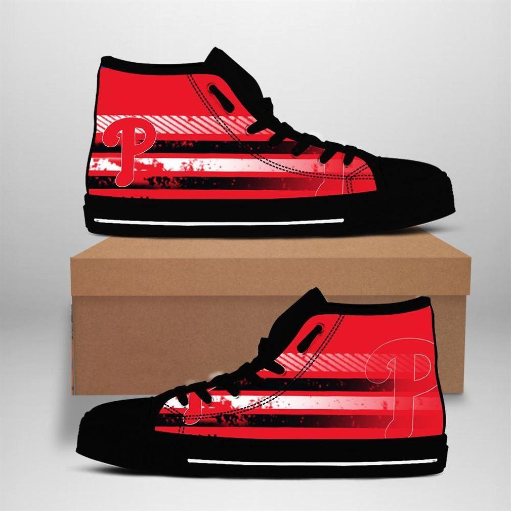 Philadelphia Phillies Mlb Baseball High Top Vans Shoes