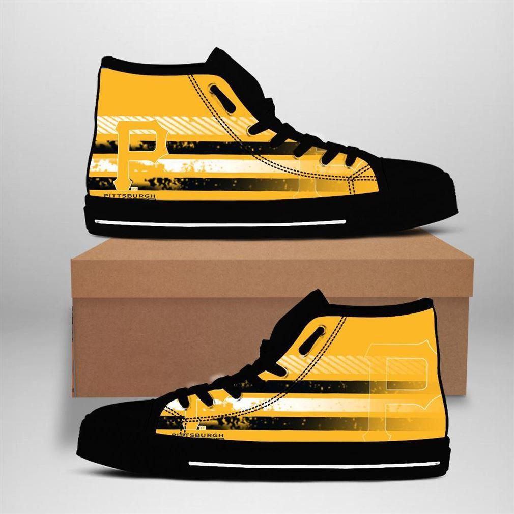 Pittsburgh Pirates Mlb Baseball High Top Vans Shoes