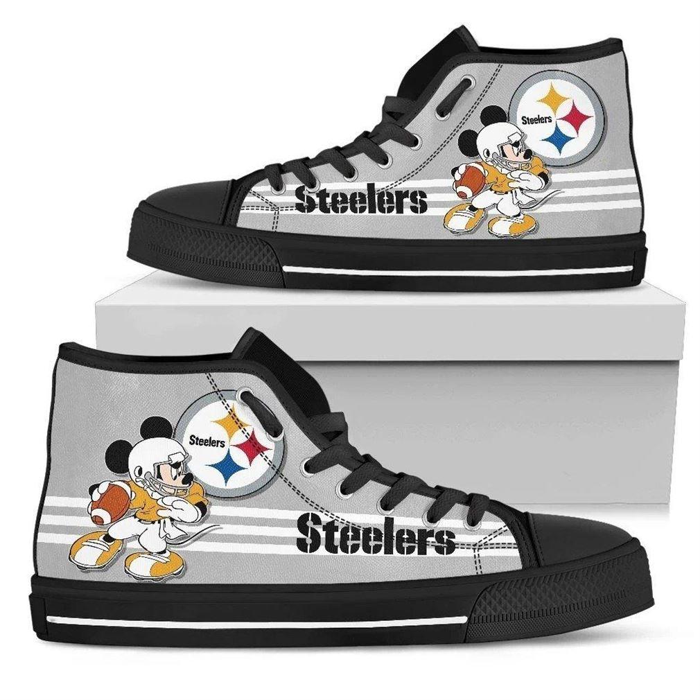 Pittsburgh Steelers Nfl Football High Top Vans Shoes
