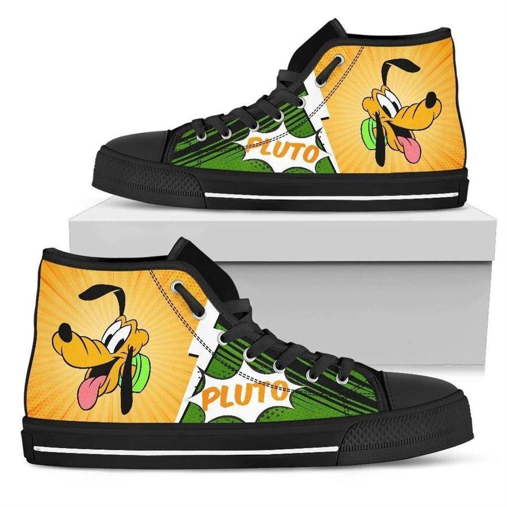 Pluto Character High Top Vans Shoes