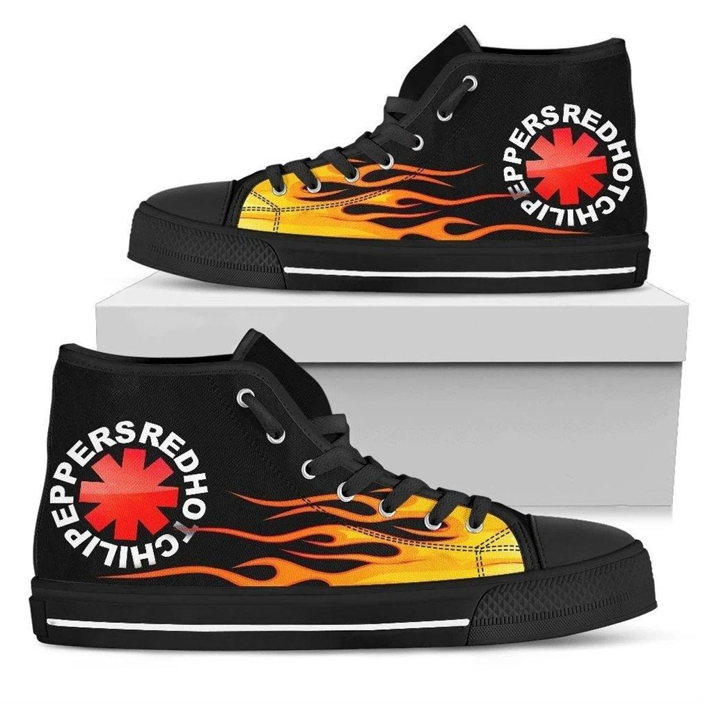 Red Hot Chili Peppers High Top Vans Shoes
