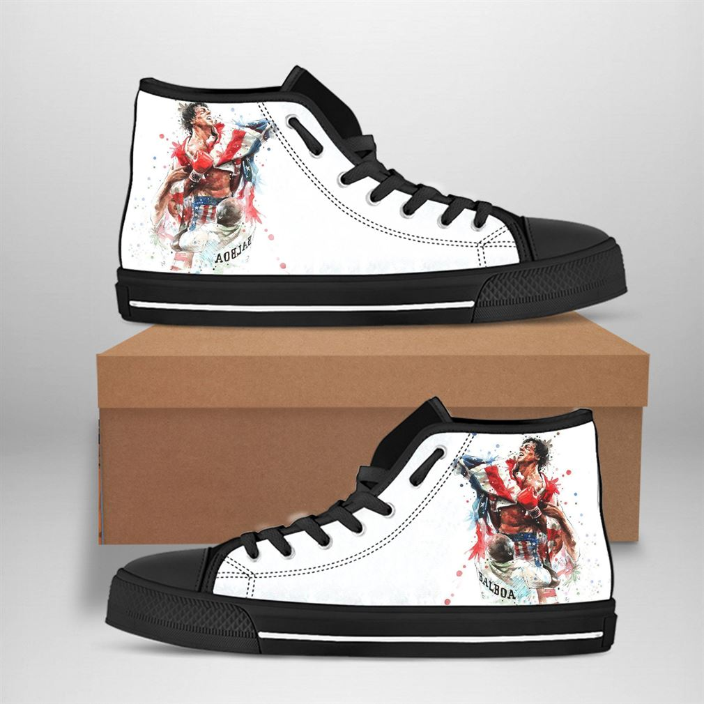 Rocky Balboa Best Movie Character High Top Vans Shoes