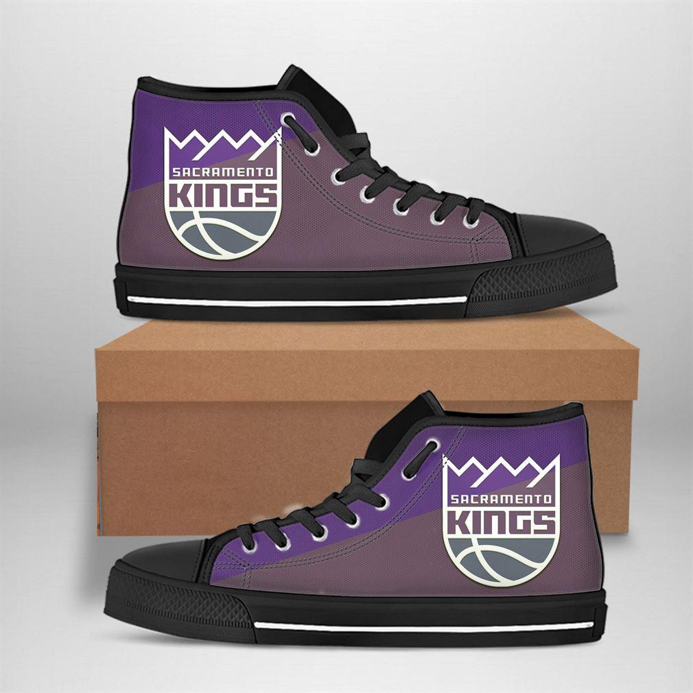 Sacramento Kings Nba Basketball High Top Vans Shoes