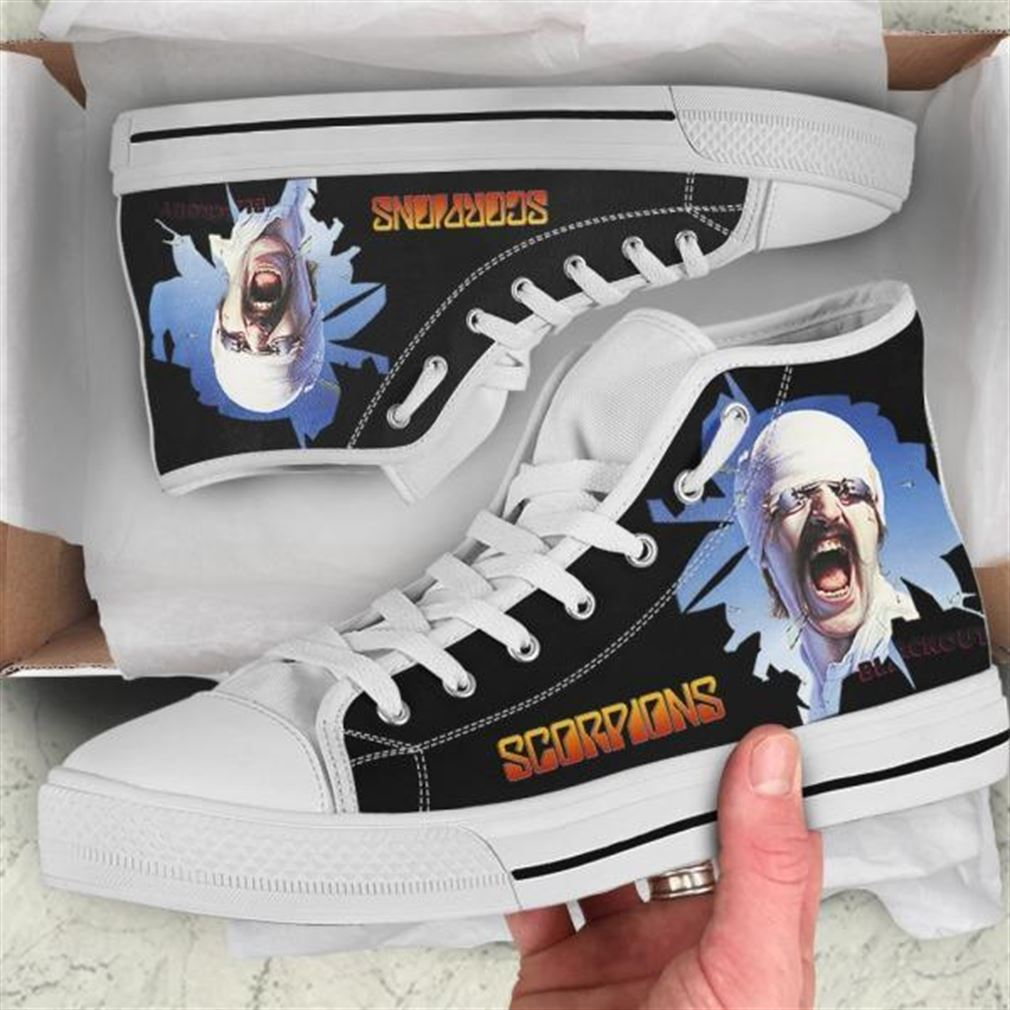 Scorpions Blackout High Top Vans Shoes