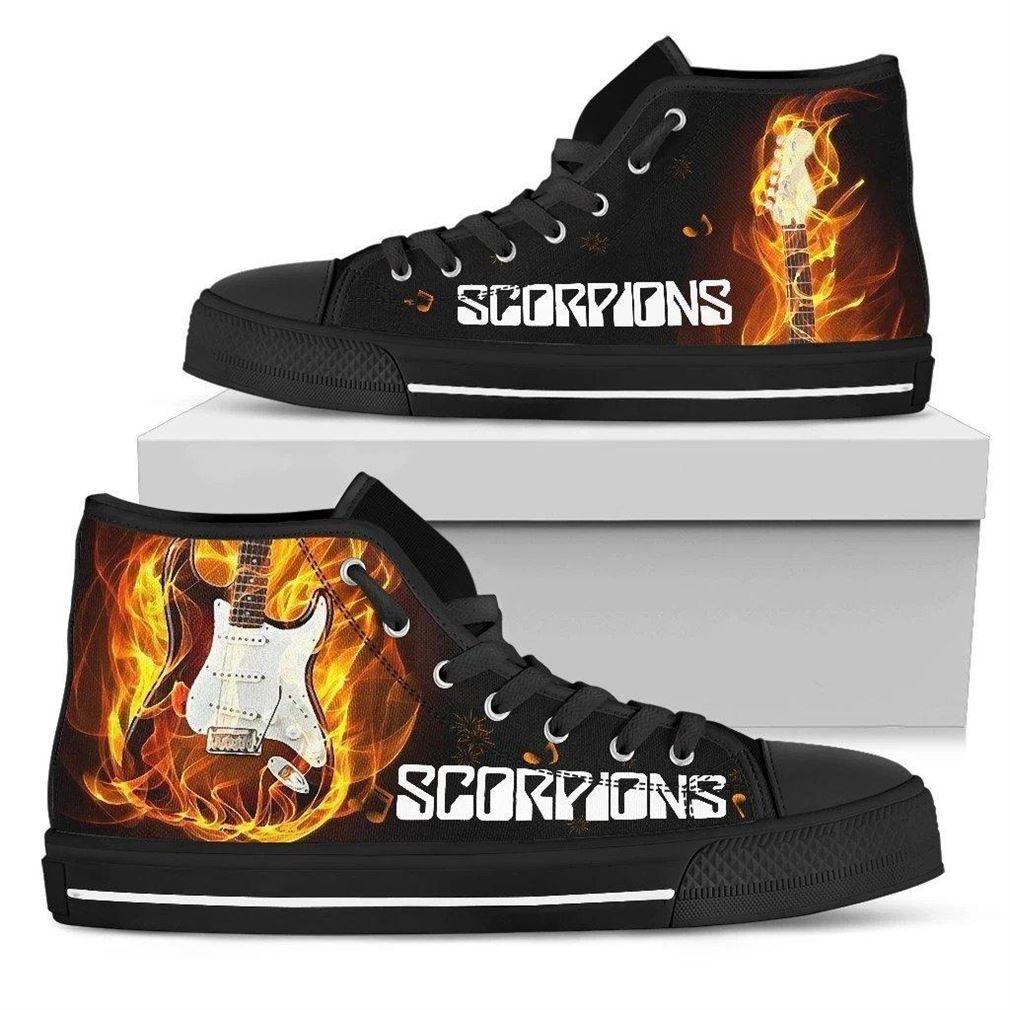 Scorpions High Top Vans Shoes