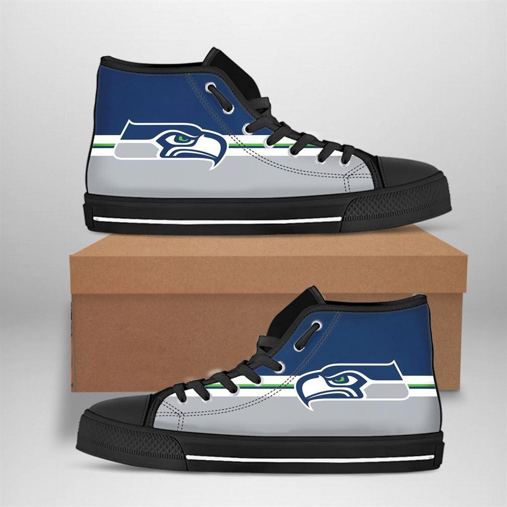 Seattle Seahawks Nfl Football High Top Vans Shoes Btgie