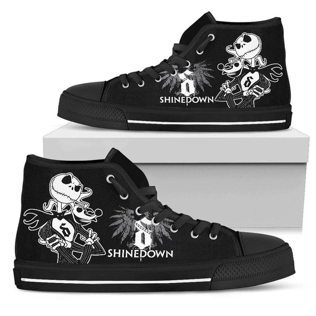 Shinedown Rock Band High Top Vans Shoes