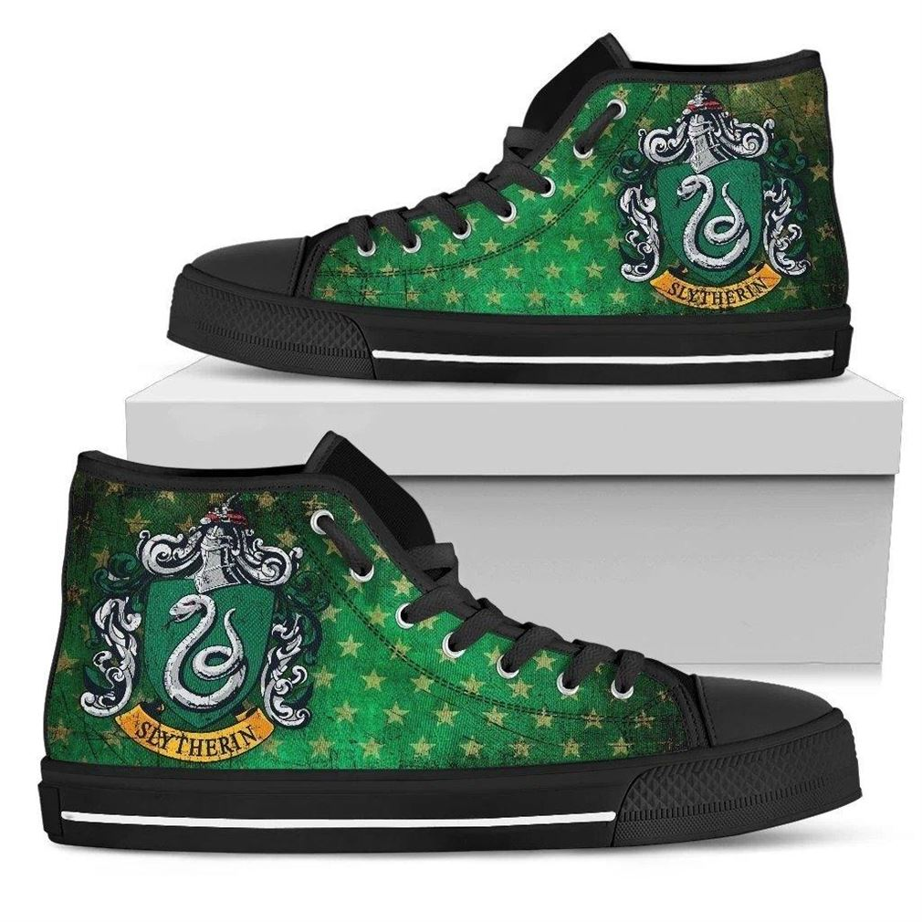 Slytherin Character High Top Vans Shoes