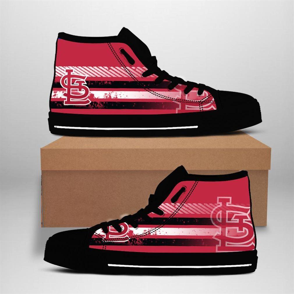 St Louis Cardinals Mlb Baseball High Top Vans Shoes