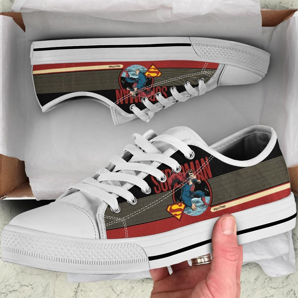 Superman Character Low Top Vans Shoes