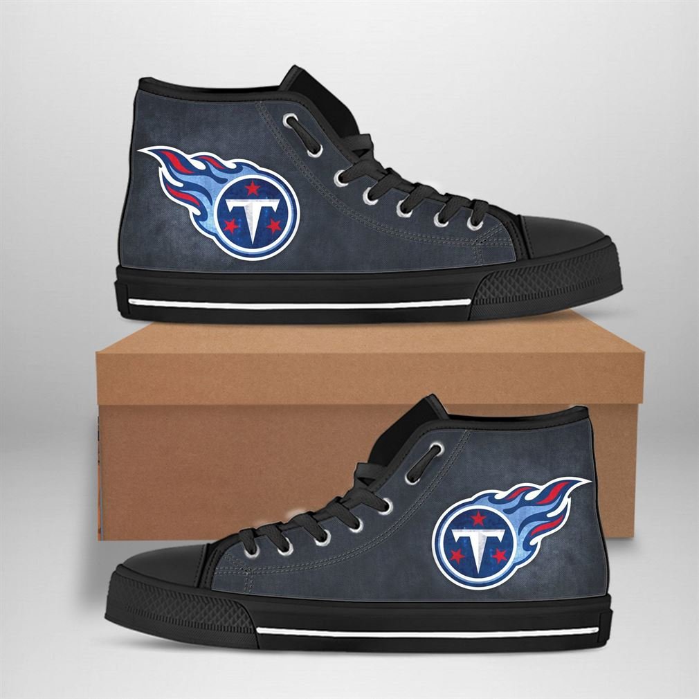 Tennessee Titans Nfl Football High Top Vans Shoes