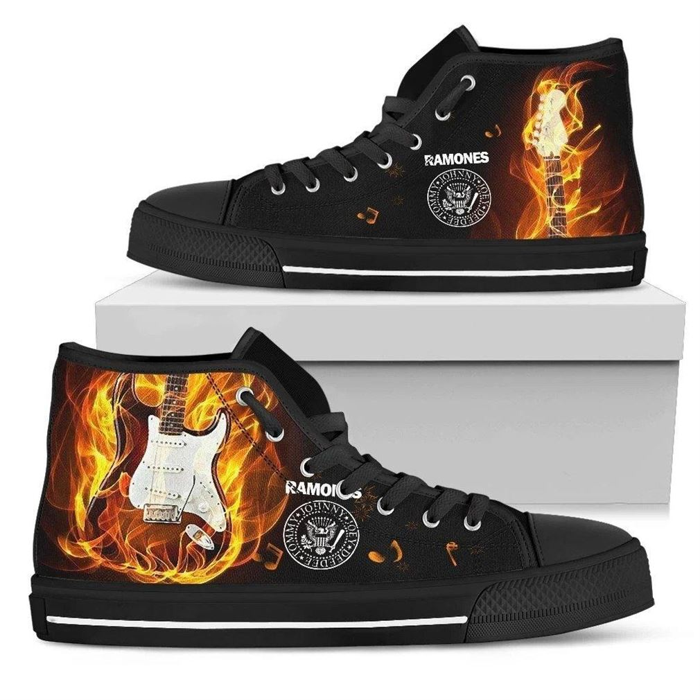 The Ramones High Top Vans Shoes