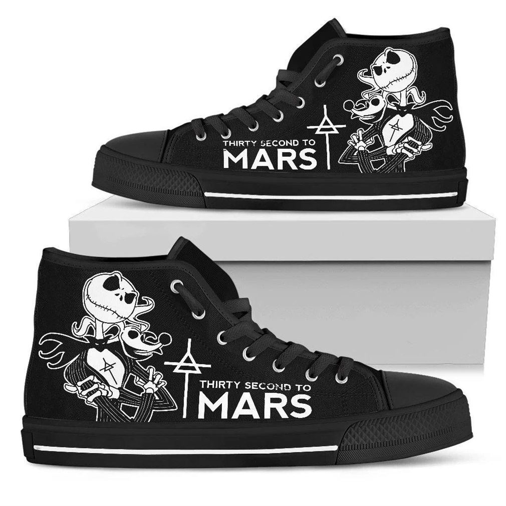 Thirty Second To Mars High Top Vans Shoes