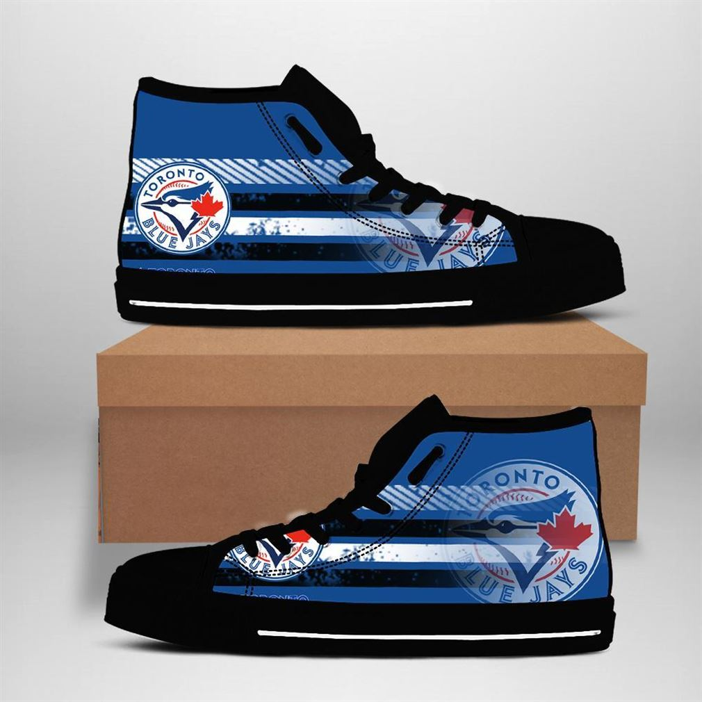 Toronto Blue Jays Mlb Baseball High Top Vans Shoes