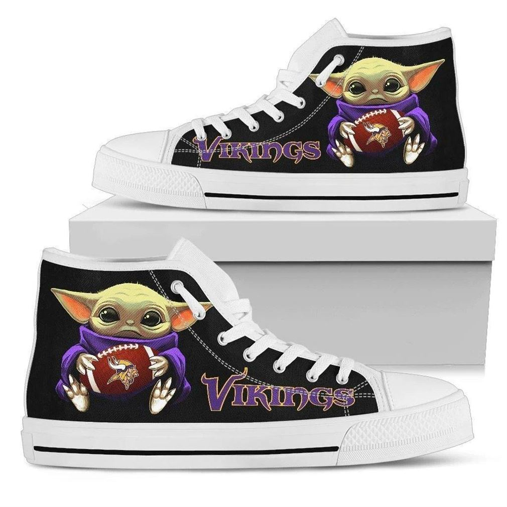 Vikings High Top Vans Shoes