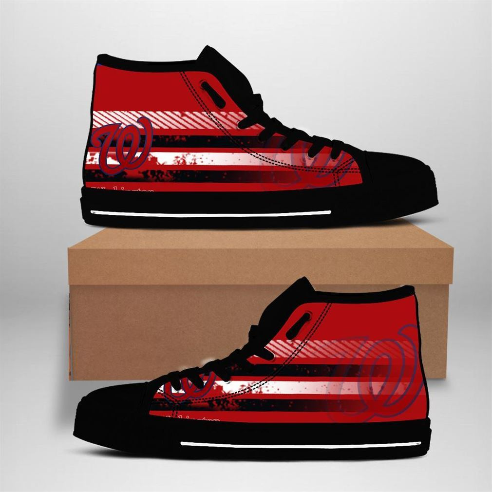Washington Nationals Mlb Baseball High Top Vans Shoes