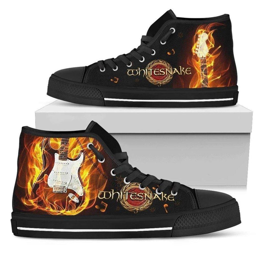 Whitesnake High Top Vans Shoes