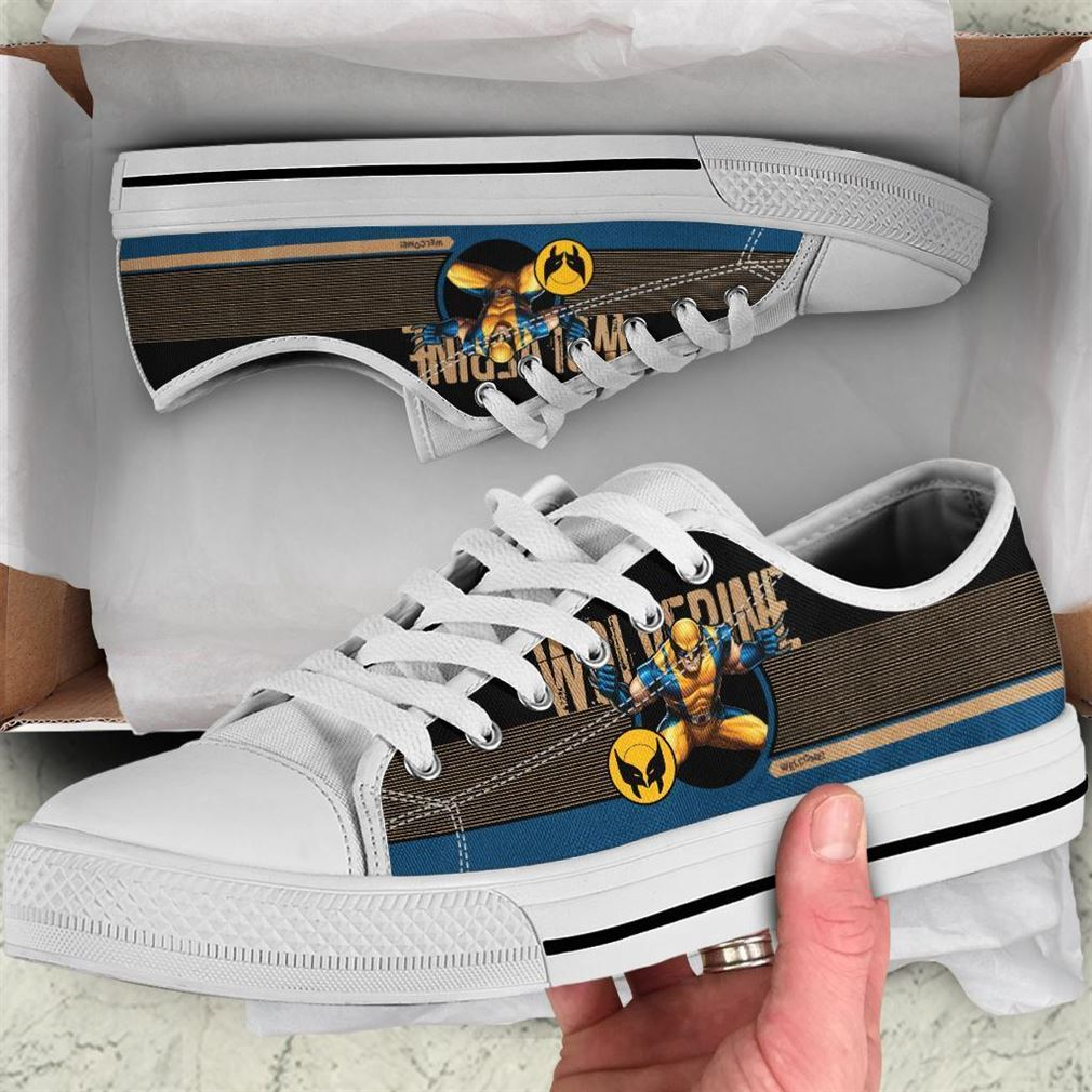 Wolverine Character Low Top Vans Shoes
