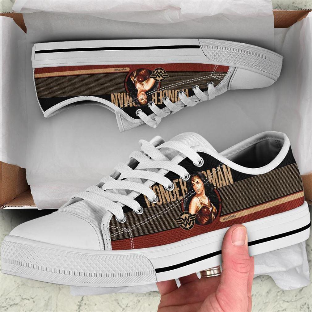 Wonder Woman Low Top Vans Shoes