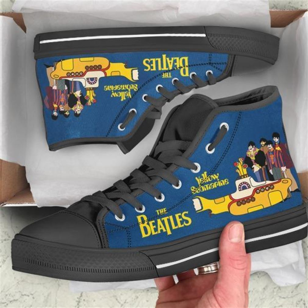 Yellow Submarine High Top Vans Shoes