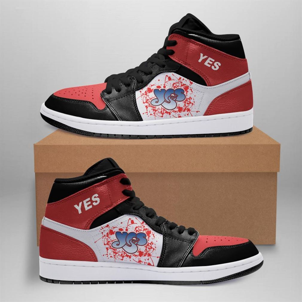 Yes Rock Band Air Jordan Sneaker Boots Shoes