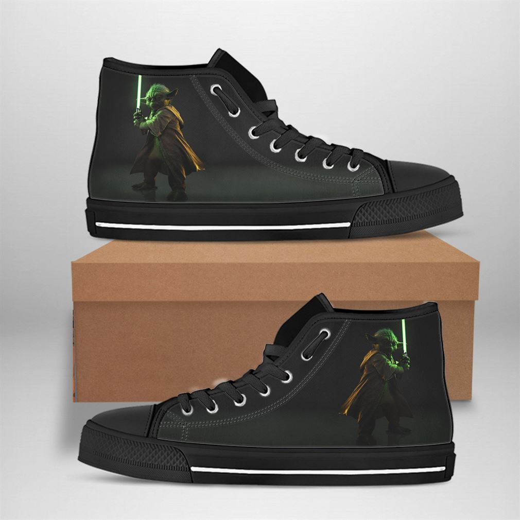 Yoda Best Movie Character High Top Vans Shoes