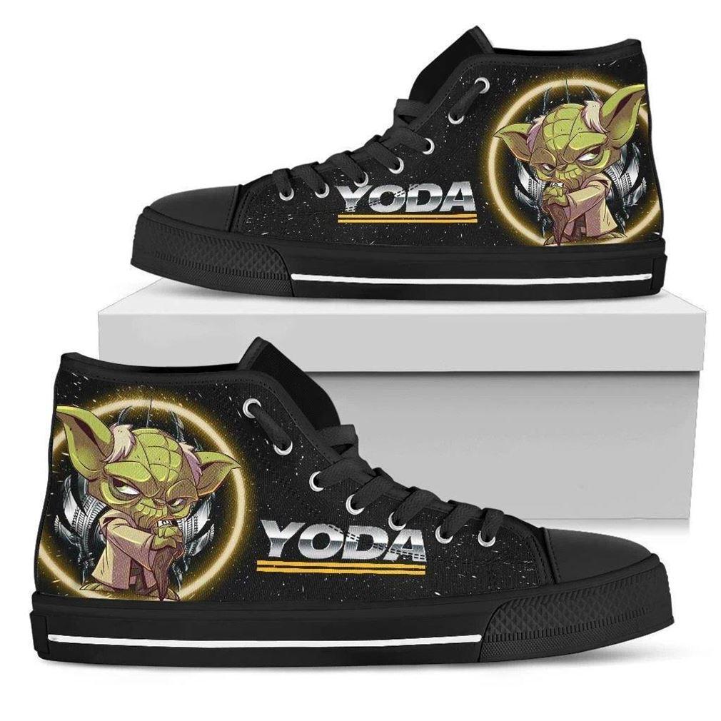 Yoda Character High Top Vans Shoes