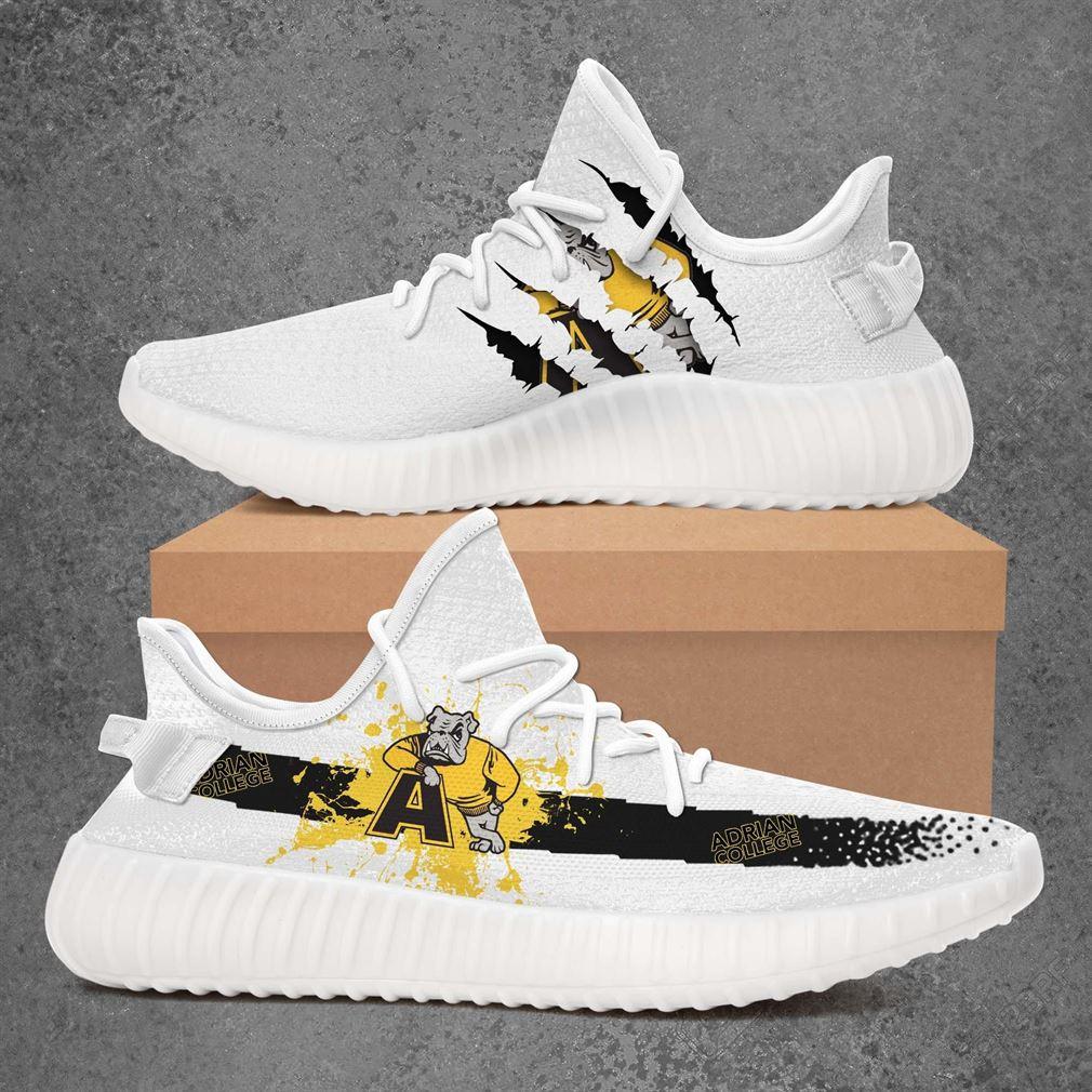 Adrian College Bulldogs Ncaa Sport Teams Yeezy Sneakers Shoes Black