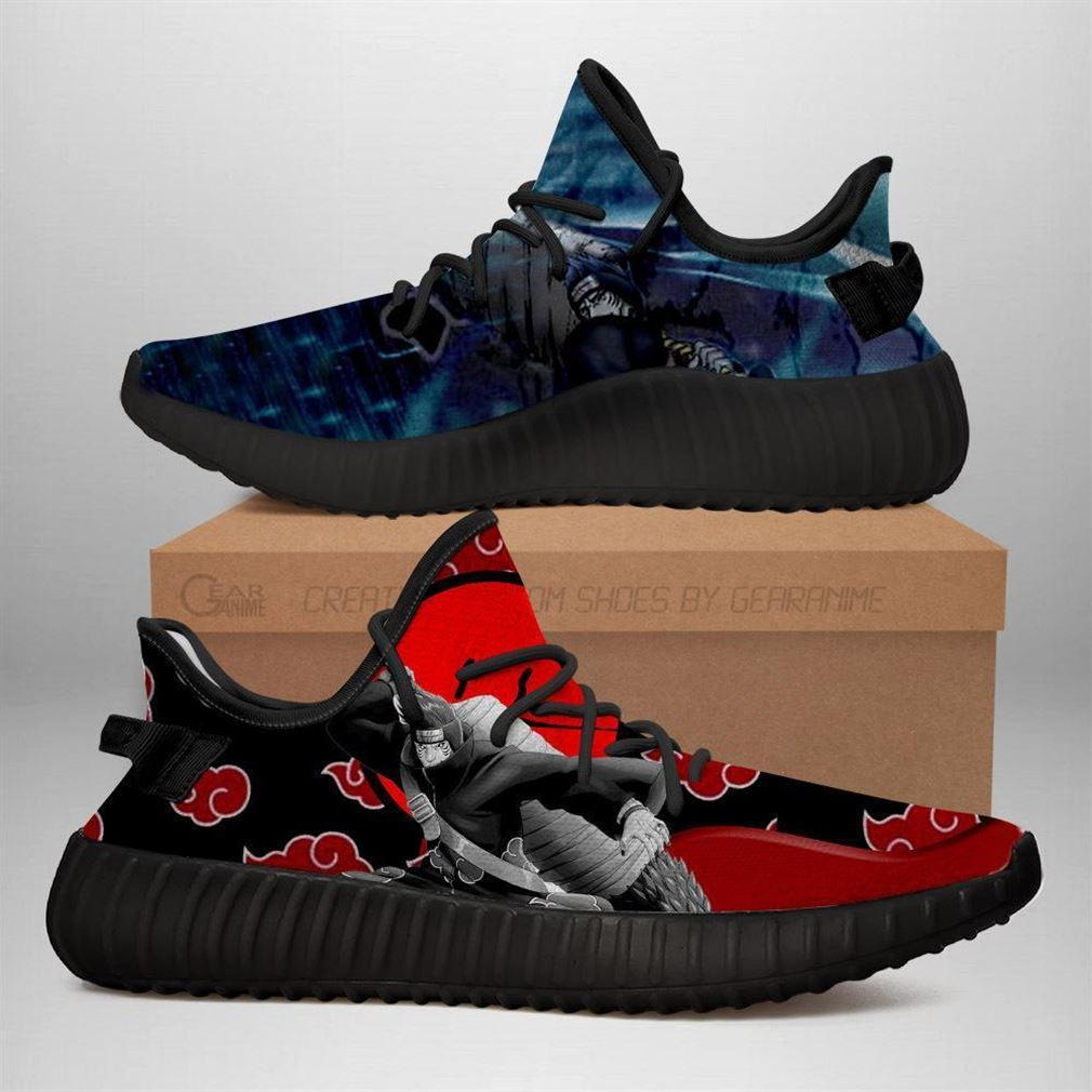 Akatsuki Kisame Yz Sneakers Naruto Shoes Anime Yeezy Sneakers Shoes Black