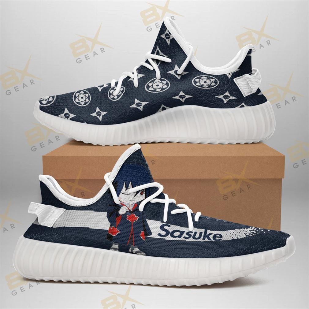 Akatsuki Sasuke Yeezy Sneakers Fashion Mixed Naruto Fan Yeezy Sneakers Shoes White