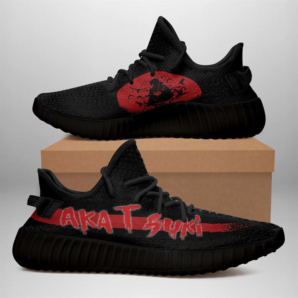 Akatsuki Yeezy Sneakers Shoes Black