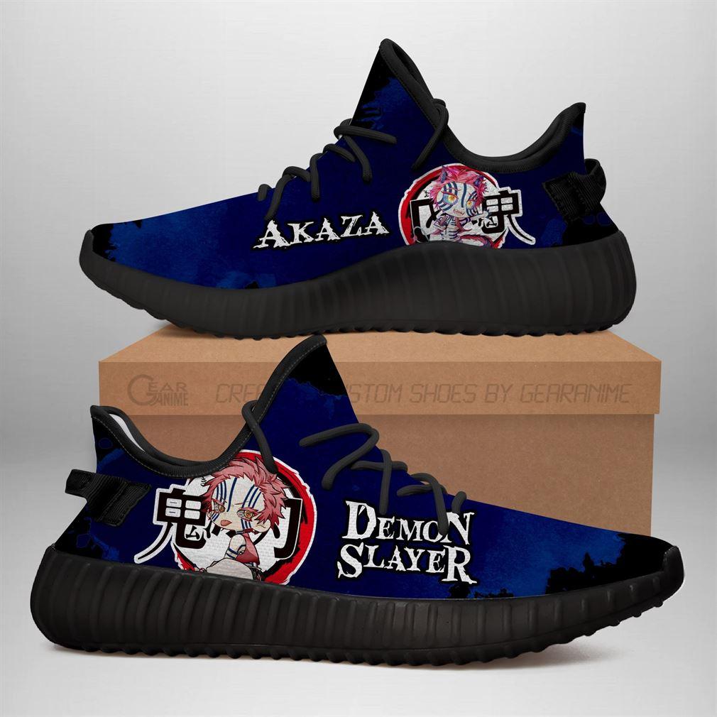 Akaza Yz Sneakers Demon Slayer Shoes Anime Yeezy Sneakers Shoes Black