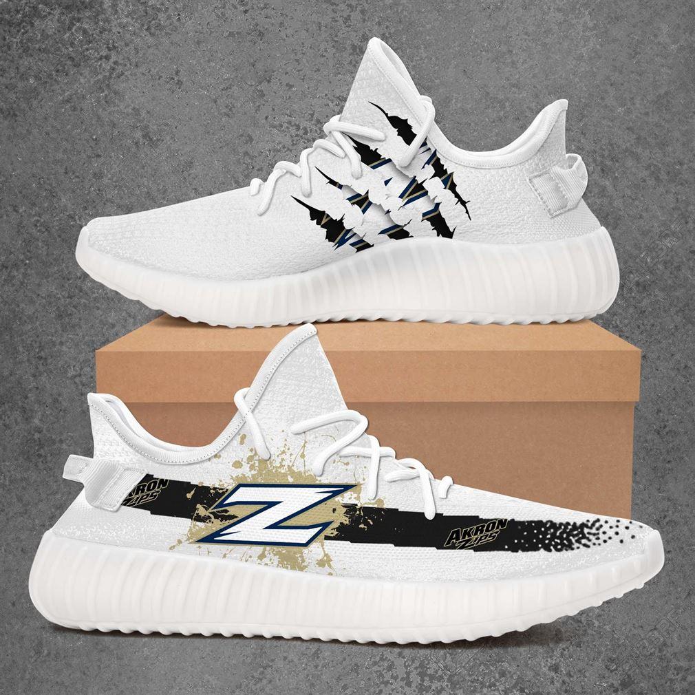 Akron Zips Ncaa Sport Teams Yeezy Sneakers Shoes Black