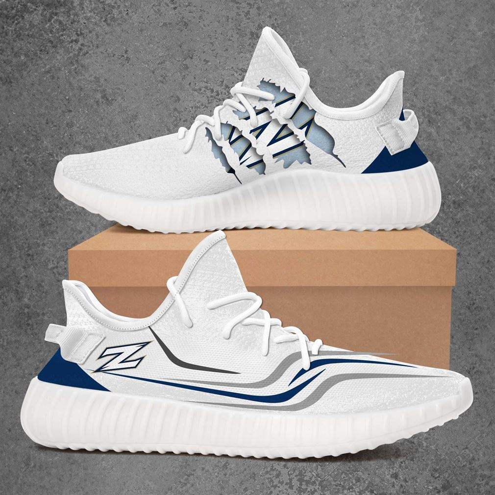 Akron Zips Ncaa Sport Teams Yeezy Sneakers Shoes White