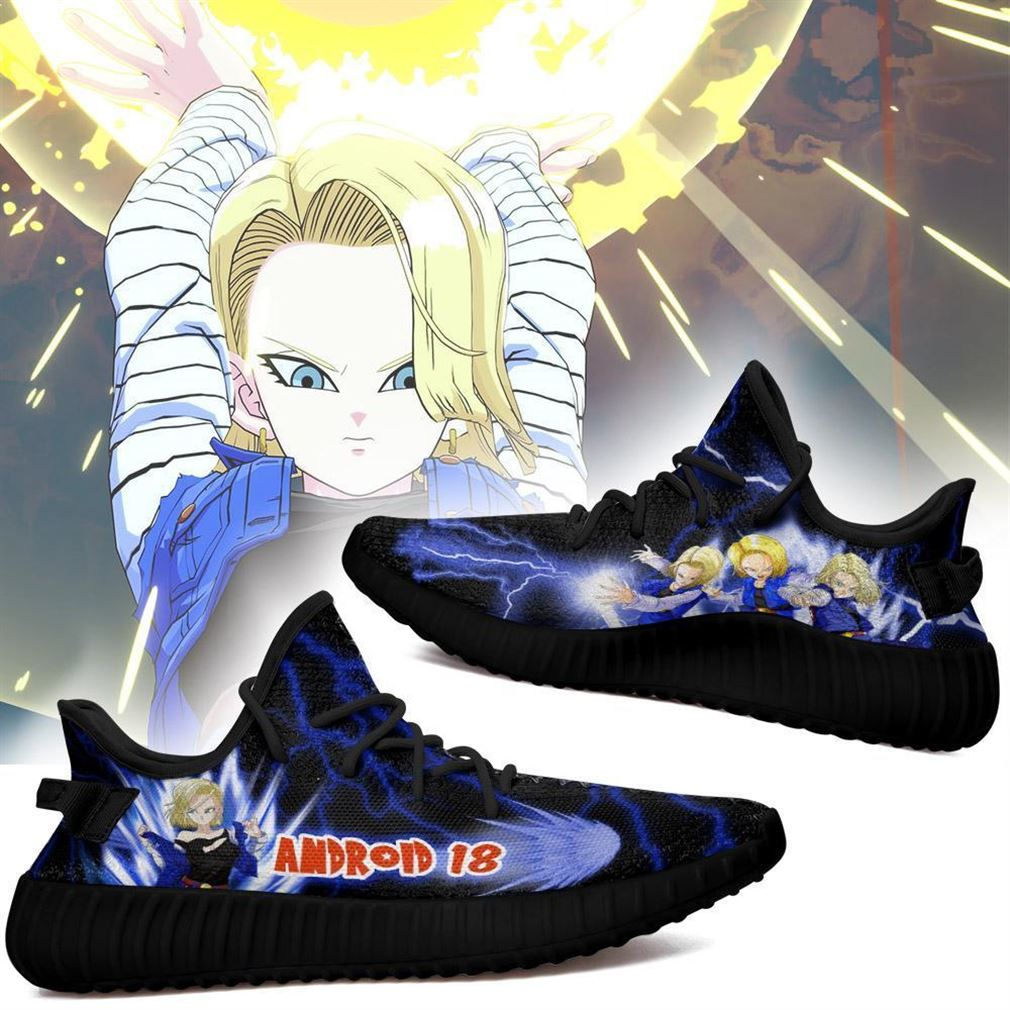 Android 18 Yz Sneakers Dragon Ball Z Shoes Anime Yeezy Sneakers Shoes Black