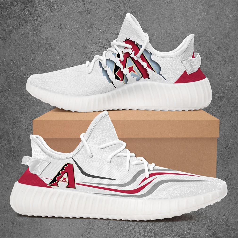Arizona Diamondbacks Mlb Sport Teams Yeezy Sneakers Shoes White