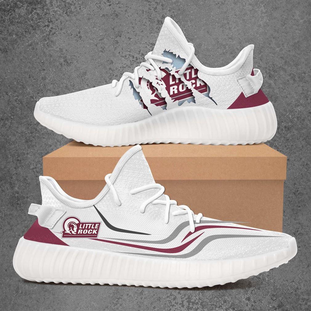 Arkansas Little Rock Trojans Ncaa Sport Teams Yeezy Sneakers Shoes White