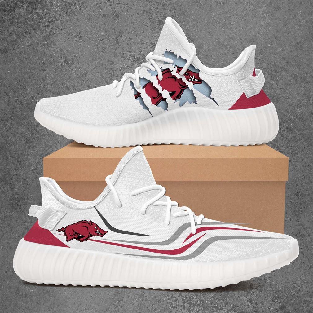 Arkansas Razorbacks Ncaa Sport Teams Yeezy Sneakers Shoes White