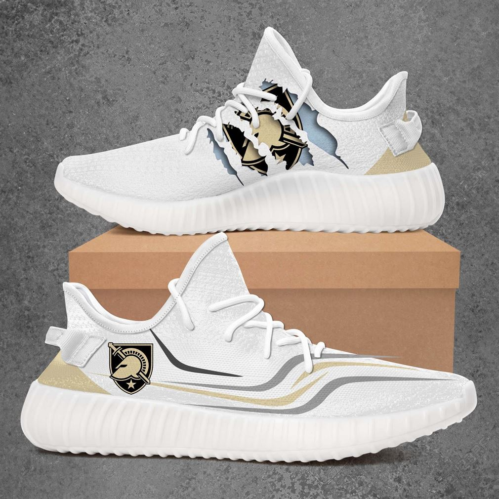 Army Black Knights Ncaa Sport Teams Yeezy Sneakers Shoes White