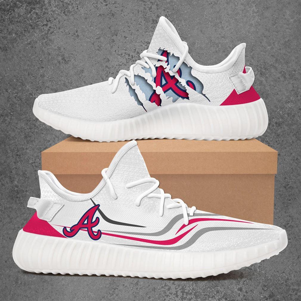 Atlanta Braves Mlb Sport Teams Yeezy Sneakers Shoes White