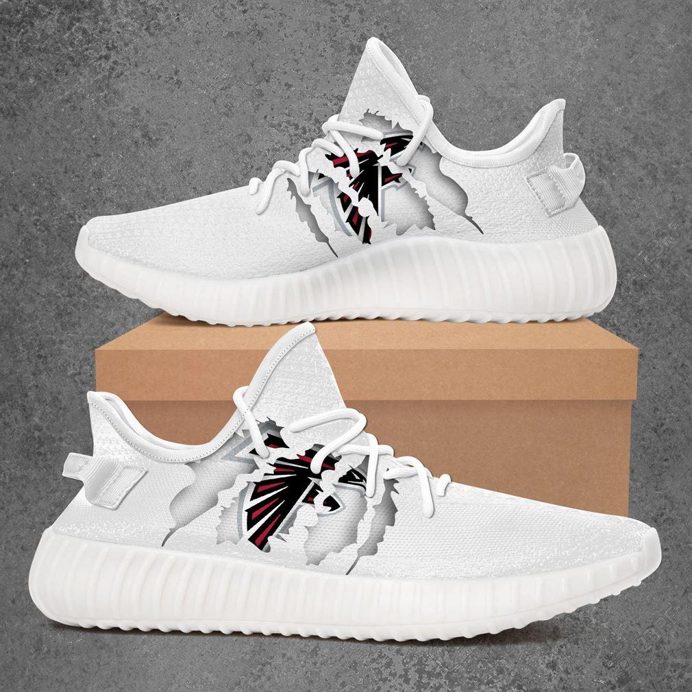 Atlanta Falcons Nfl Sport Teams Yeezy Sneakers Shoes White