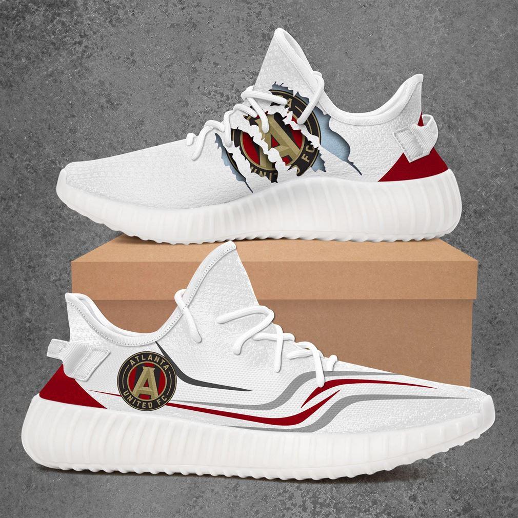 Atlanta United Fc Mls Sport Teams Yeezy Sneakers Shoes White