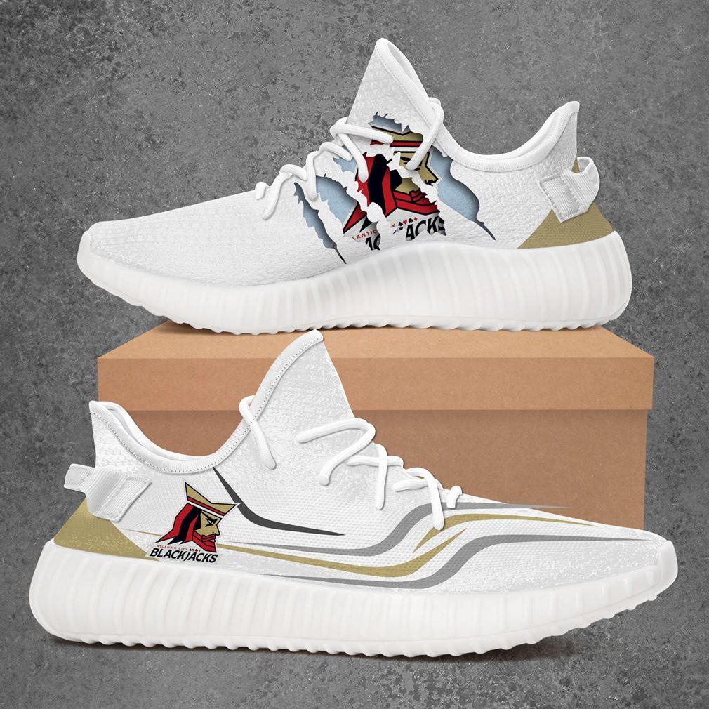 Atlantic City Blackjacks Afl Sport Teams Yeezy Sneakers Shoes White