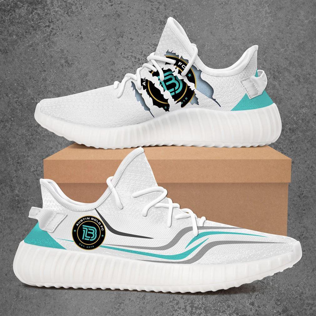 Austin Bold Fc Usl Championship Sport Teams Yeezy Sneakers Shoes White