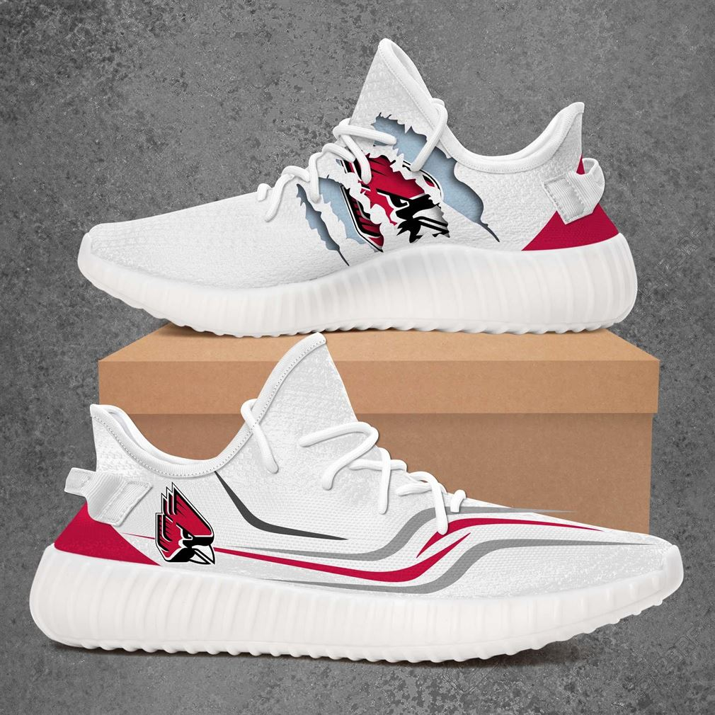 Ball State Cardinals Ncaa Sport Teams Yeezy Sneakers Shoes White