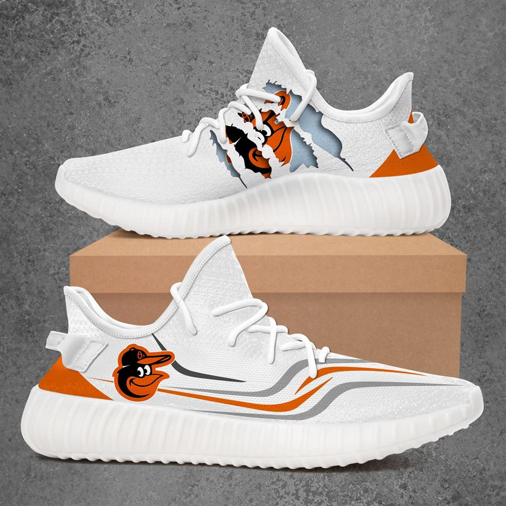 Baltimore Orioles Mlb Sport Teams Yeezy Sneakers Shoes White