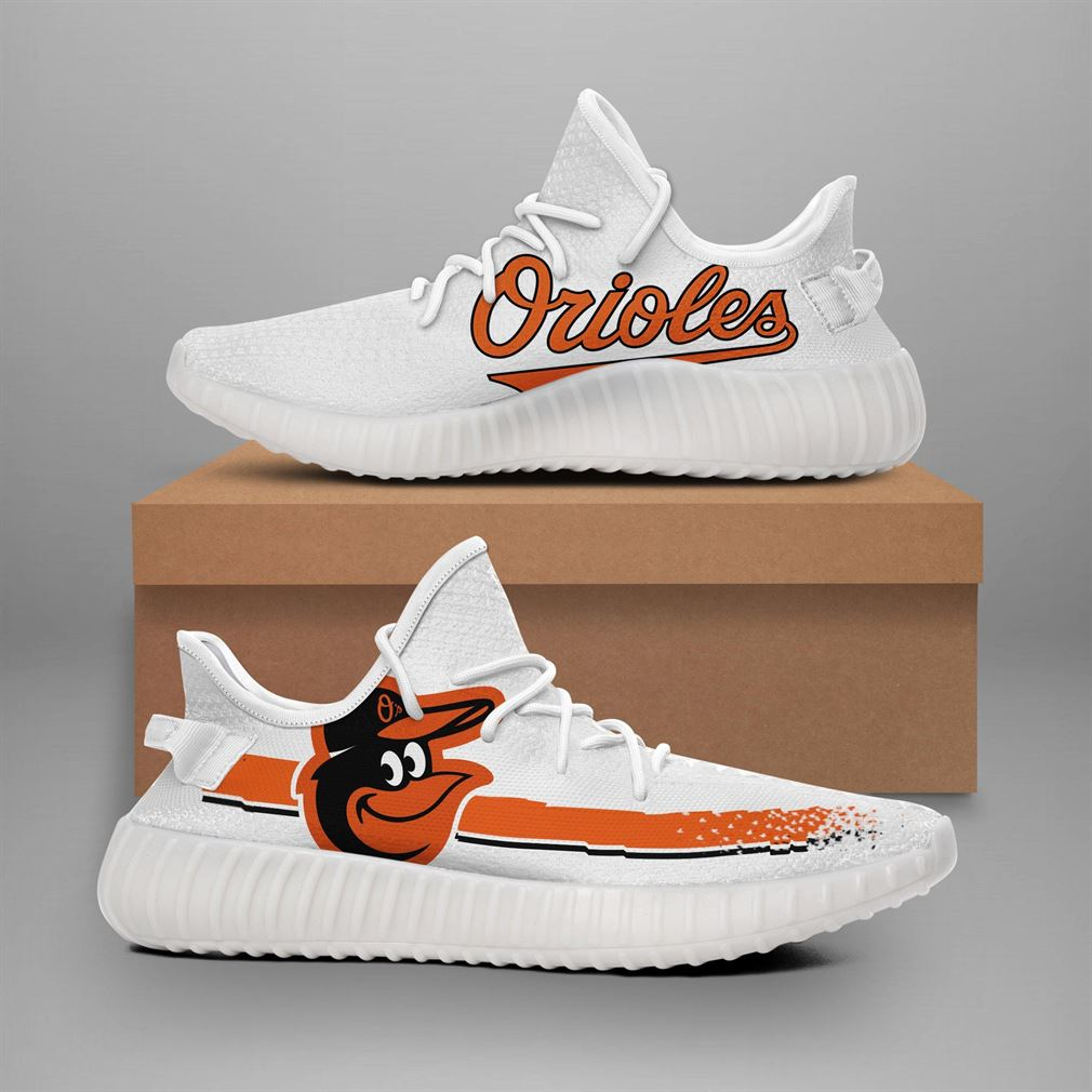 Baltimore Orioles Mlb Teams Runing Yeezy Sneakers Shoes